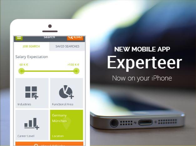 Experteer iOS mobile app