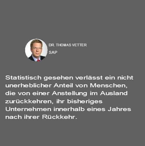 Thomas Vetter Anstellung im Ausland
