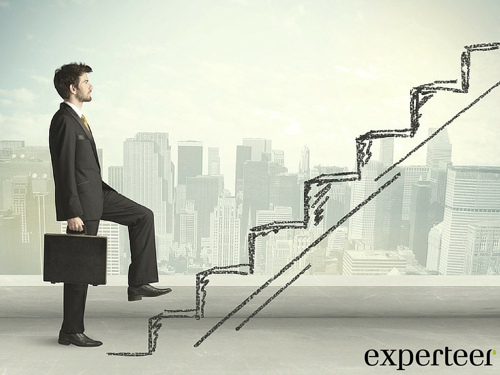 Karriereschritt erwünscht Verlassen Sie Ihre berufliche Komfortzone