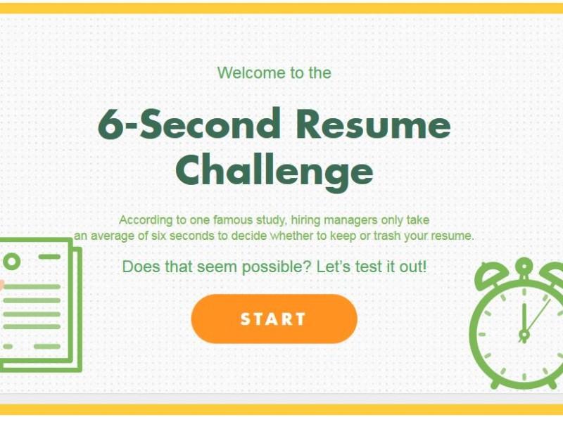 6 Sekunden entscheiden über Ihren Lebenslauf