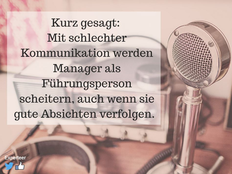 Kommunikation als Erfolgsstrategie für Manager